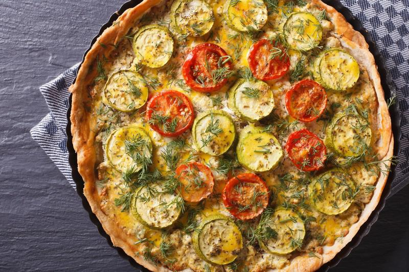 Bekannt Idée de repas végétarien équilibré : une recette de tarte salée  YN68