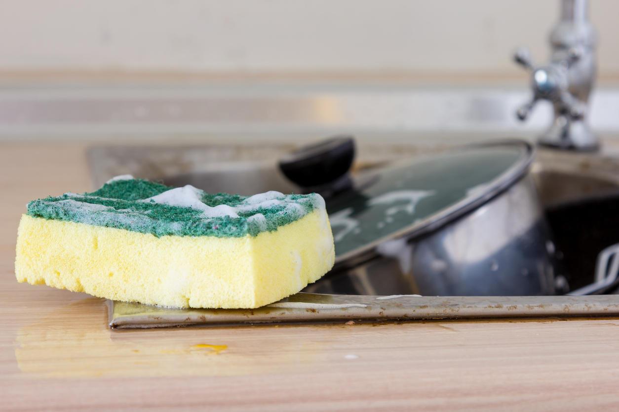 Pourquoi l'éponge de votre cuisine peut vous rendre malade