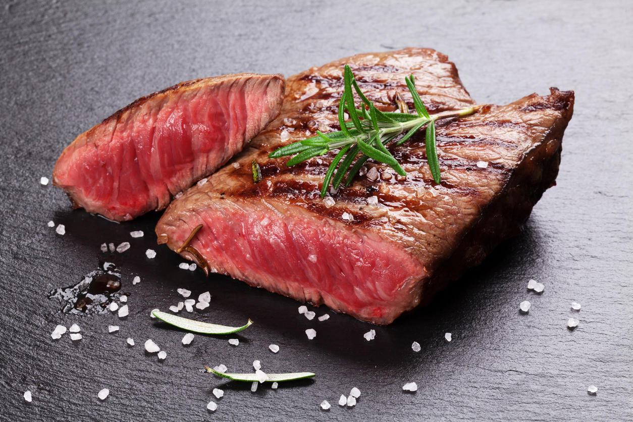 Blutiges Steak