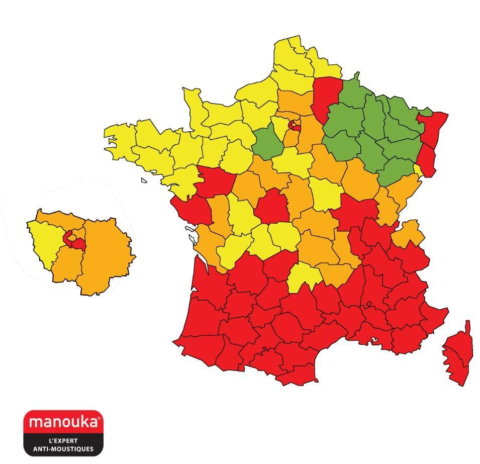 Moustique tigre. 42 départements en vigilance rouge, la Bretagne en surveillance