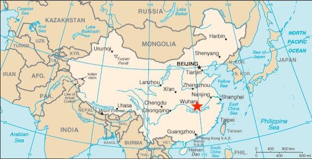 Carte : la région du Wuhan, en Chine, épicentre de l'épidémie