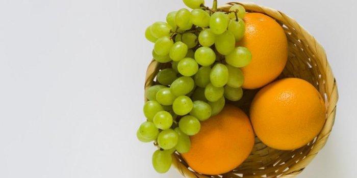 Raisin et orange : deux fruits anti graisses !