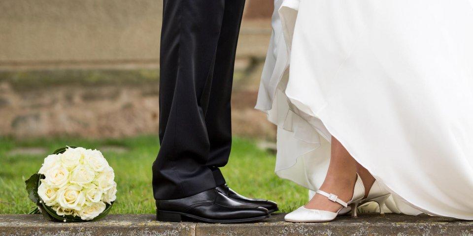 mal au pied mariage