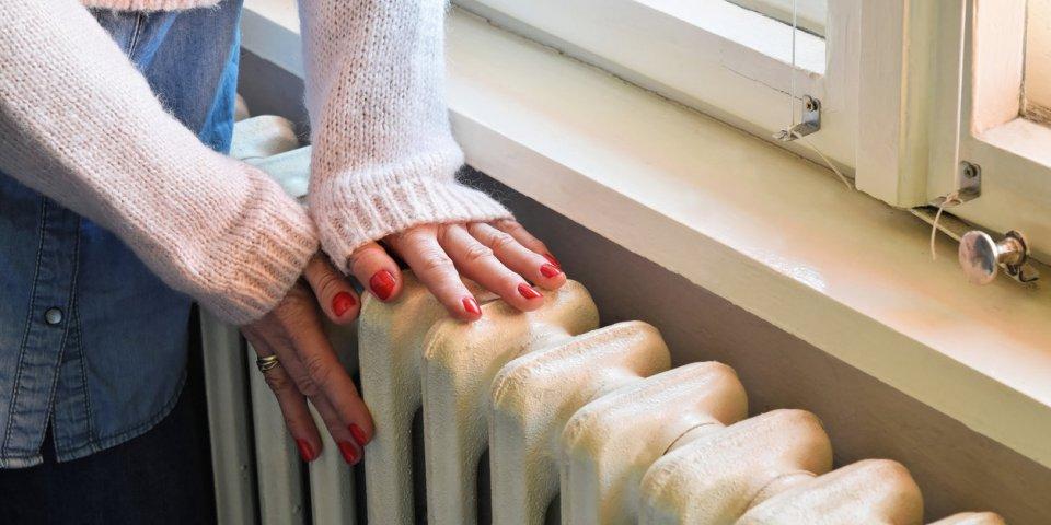 old heavy duty radiator heats the room in best way